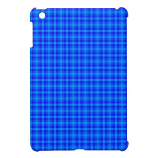 Turquoise and Blue Retro Chequered Pattern iPad Mini Case