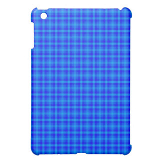Turquoise and Blue Retro Chequered Pattern iPad Mini Cover