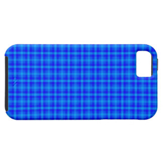 Turquoise and Blue Retro Chequered Pattern iPhone 5 Cover