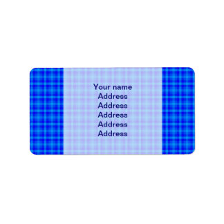 Turquoise and Blue Retro Chequered Pattern Label