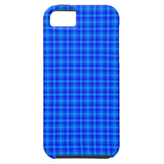 Turquoise and Blue Retro Chequered Pattern Tough iPhone 5 Case