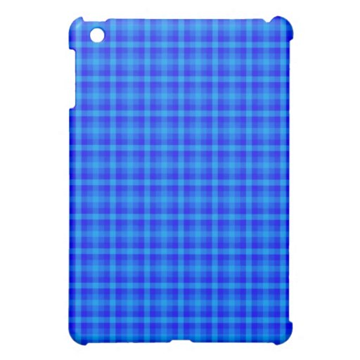 Turquoise and Blue Retro Chequered Pern Case For The iPad Mini
