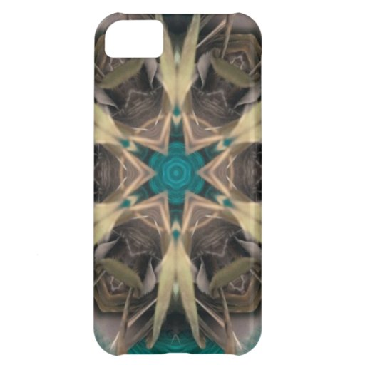 Turquoise and bronze abstract design iPhone 5C case