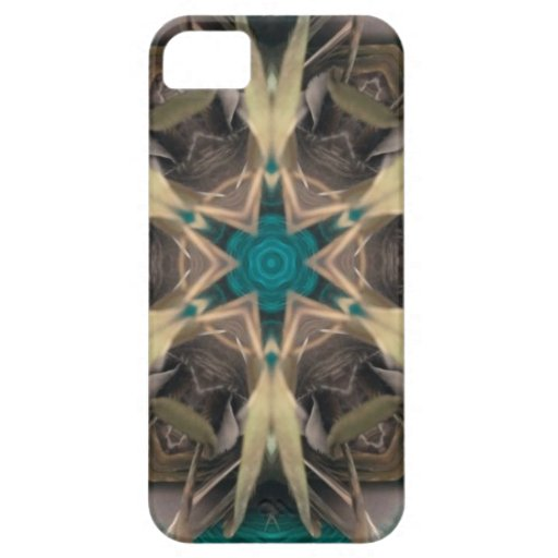 Turquoise and bronze abstract design iPhone 5 cover