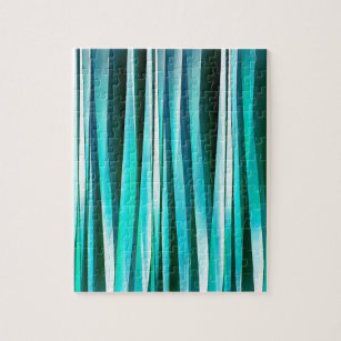 Green Turquoise Jigsaw Puzzle With