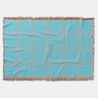Turquoise and Duck Egg Blue Throw