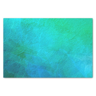 """Turquoise and Green Abstract Art 10"""" X 15"""" Tissue Paper"""