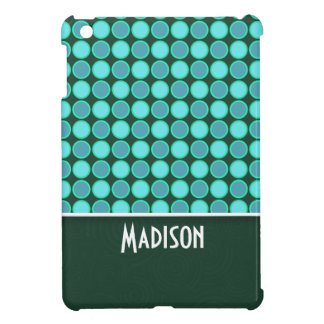 Turquoise and Green Polka Dots Case For The iPad Mini