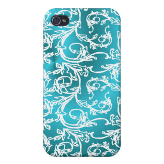 Turquoise and Lace iPhone 4/4S Cover