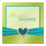 Turquoise and Lime Bridal Shower Invitation