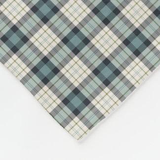 Turquoise and Navy Rustic Plaid Fleece Blanket