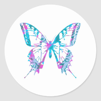 Turquoise and Pink Butterfly Stickers