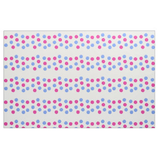 Turquoise and pink dots pattern fabric