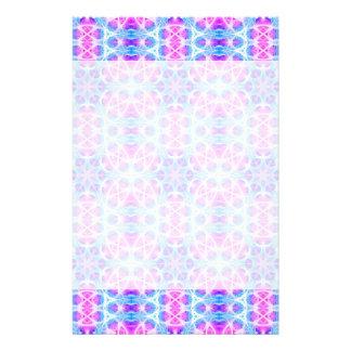 Turquoise and Pink Hippie Mandala Pattern Stationery