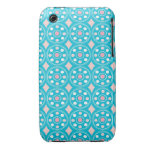 Turquoise and Pink Mod Retro iPhone 3 Case-Mate Case