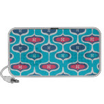 Turquoise and Pink Mod Retro Travel Speaker