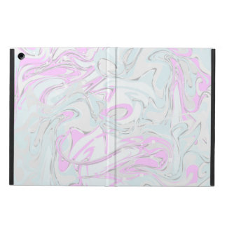 Turquoise and pinky marble texture cover for iPad air