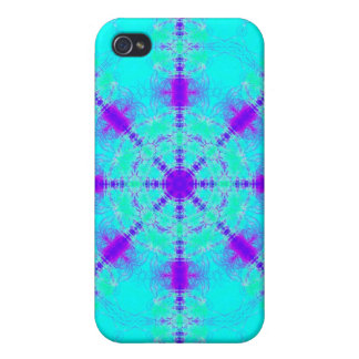 turquoise and Purple iPhone 4/4S Case