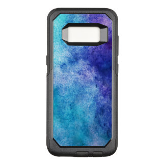 Turquoise And Purple Modern Abstract OtterBox Commuter Samsung Galaxy S8 Case