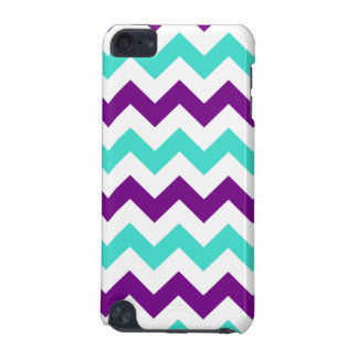 Turquoise and Purple Zigzag iPod Touch 5G Case