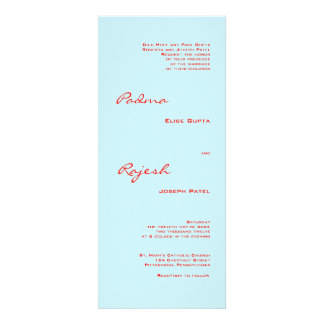 Turquoise and Red Paisley Indian Wedding Personalized Invite