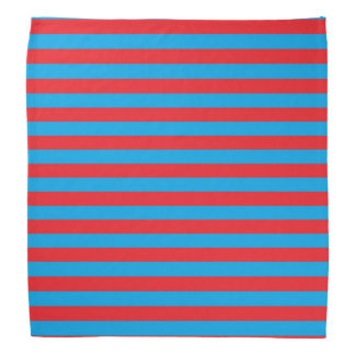 Turquoise and Red Stripes Bandana