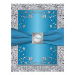 Turquoise and Silver Foil RSVP Card Custom Announcement