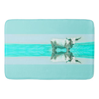 Turquoise and Steer Bathmat