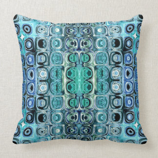 Turquoise And Teal Reflections Cushion