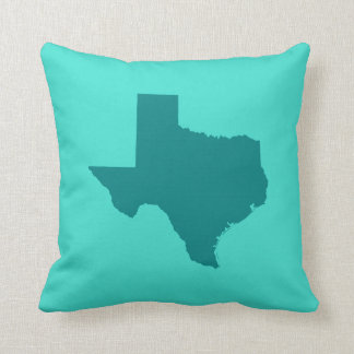Turquoise and Teal Texas Shape Cushion