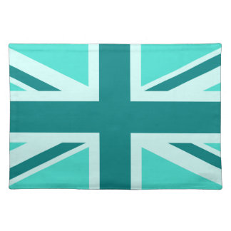 Turquoise and Teal Union Jack 2 Placemats