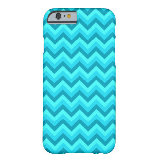 Turquoise and Teal Zigzag Pattern. Barely There iPhone 6 Case