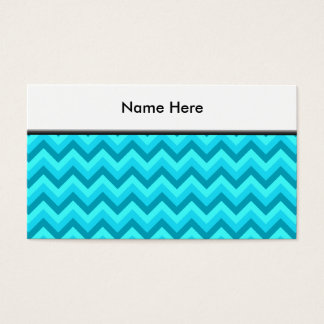 Turquoise and Teal Zigzag Pattern. Business Card