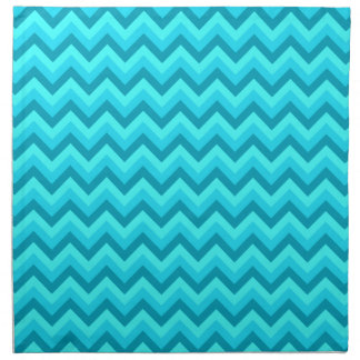 Turquoise and Teal Zigzag Pattern. Napkin
