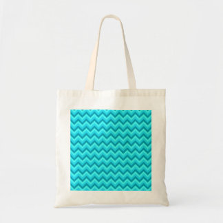 Turquoise and Teal Zigzag Pattern. Tote Bag