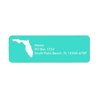 Turquoise and White Florida Personalized