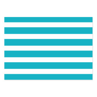 Turquoise and White Stripe Nautical Summer Business Card