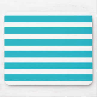 Turquoise and White Stripe Nautical Summer Mouse Mat