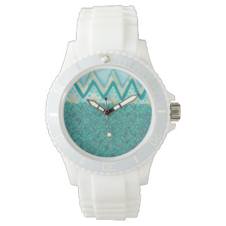 Turquoise and White Watch
