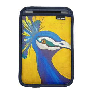 Turquoise and Yellow Peacock iPad Mini Sleeve