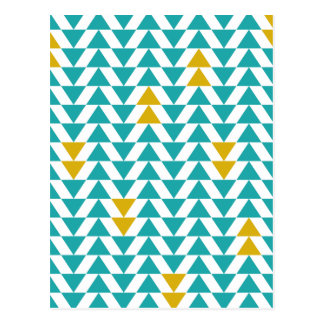 Turquoise and Yellow Triangles Postcard