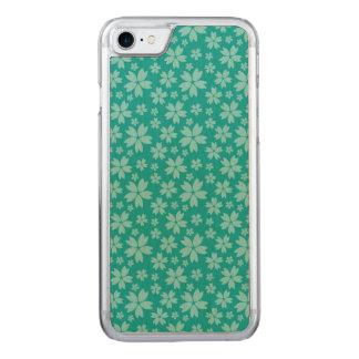 Turquoise Apple iPhone 7 Slim Maple Wood Case