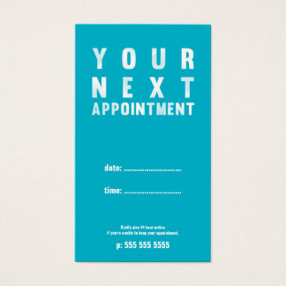 Turquoise Appointment Card
