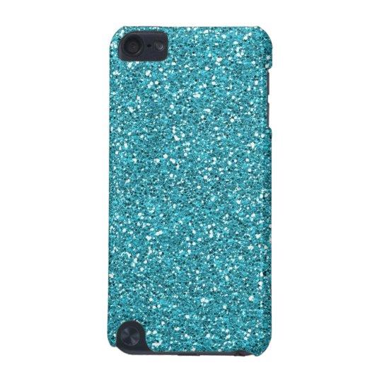 Turquoise Aqua Faux Glitter iPod Touch 5G Case