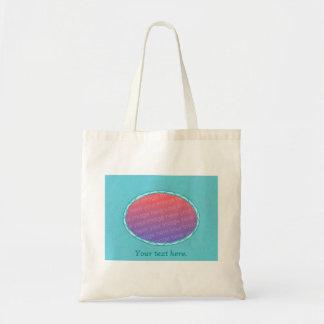 Turquoise Aqua Oval Frame Add Photo Tote Bags