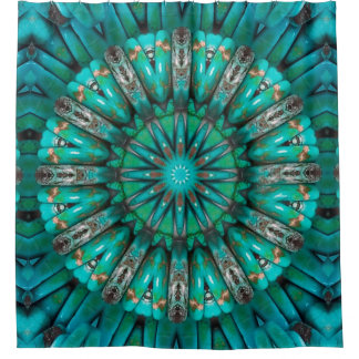 Turquoise Art 1-2 Options Shower Curtain