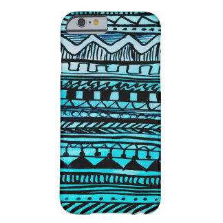 Turquoise Aztec Pattern 2 Barely There iPhone 6 Case