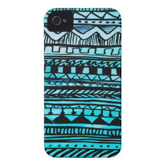 Turquoise Aztec Pattern 2 Case-Mate iPhone 4 Case