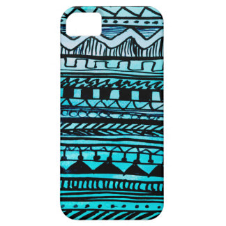 Turquoise Aztec Pattern 2 iPhone 5 Cases