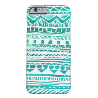 Turquoise Aztec Pattern Barely There iPhone 6 Case